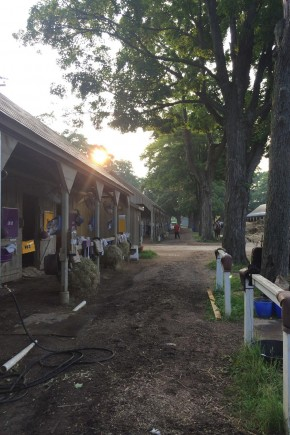 The barn at Saratoga.